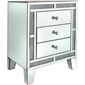 Siena Mirrored Bedside Cabinet