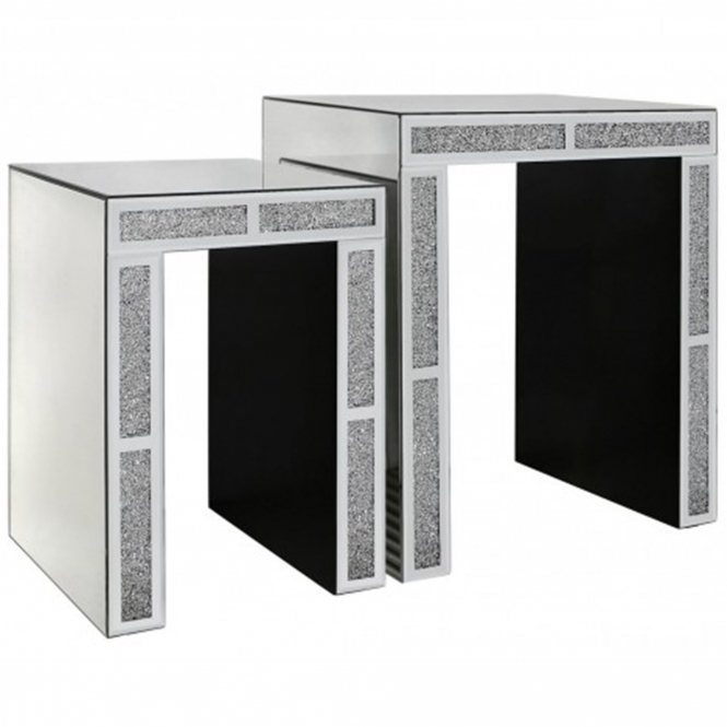 Siena Mirrored End Tables