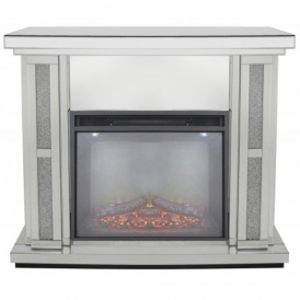 Siena Mirrored Fire Surround With Electric Fire