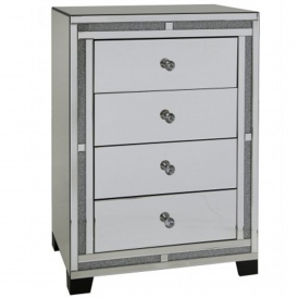 Siena Mirrored Tallboy Chest