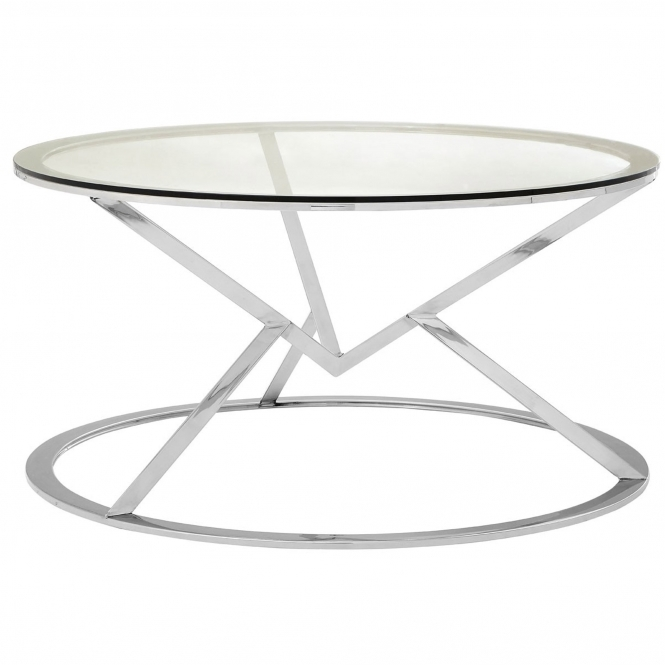 Silver Allure Round Coffee Table