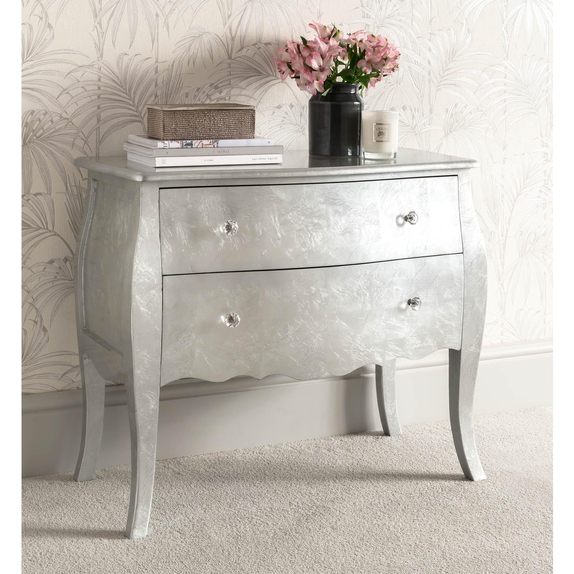 Silver Antique French Style Chest Of Drawers French