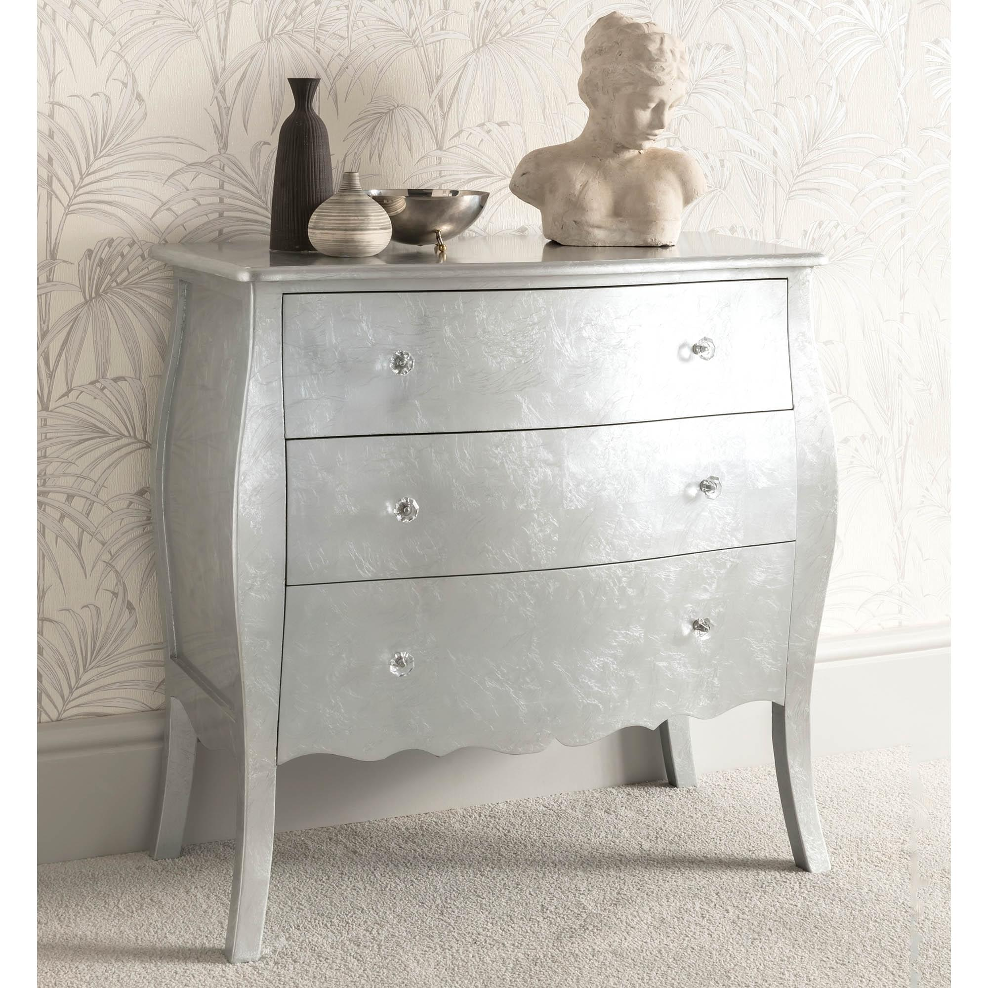 Silver Antique French Style Chest Of Drawers French Silver Furniture