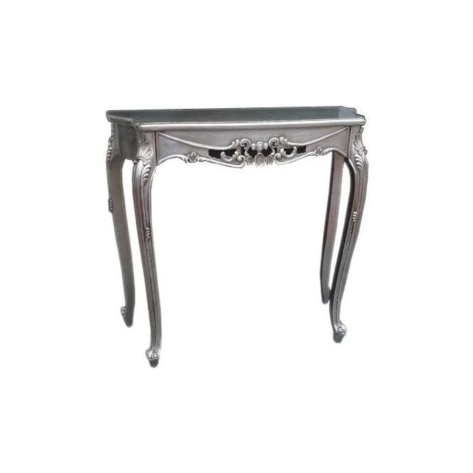 Silver Antique French Style Console Table