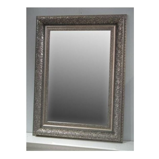 Silver Antique French Style Wall Mirror