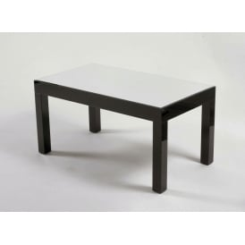 Silver & Black Glass Coffee Table
