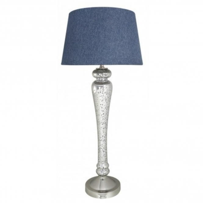 Silver & Blue Modern Table Lamp