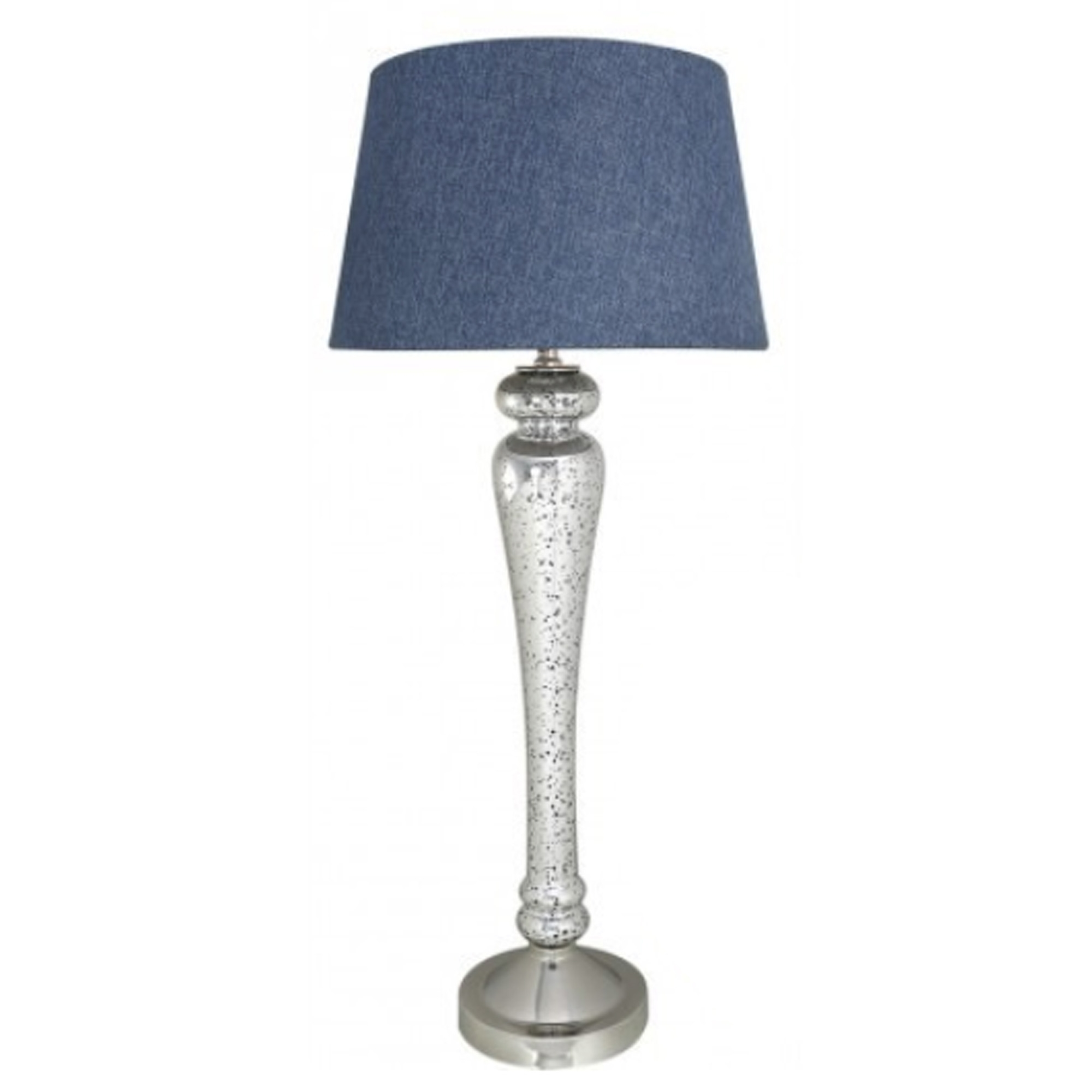 Silver Blue Modern Table Lamp Table Lamps Home Accessories