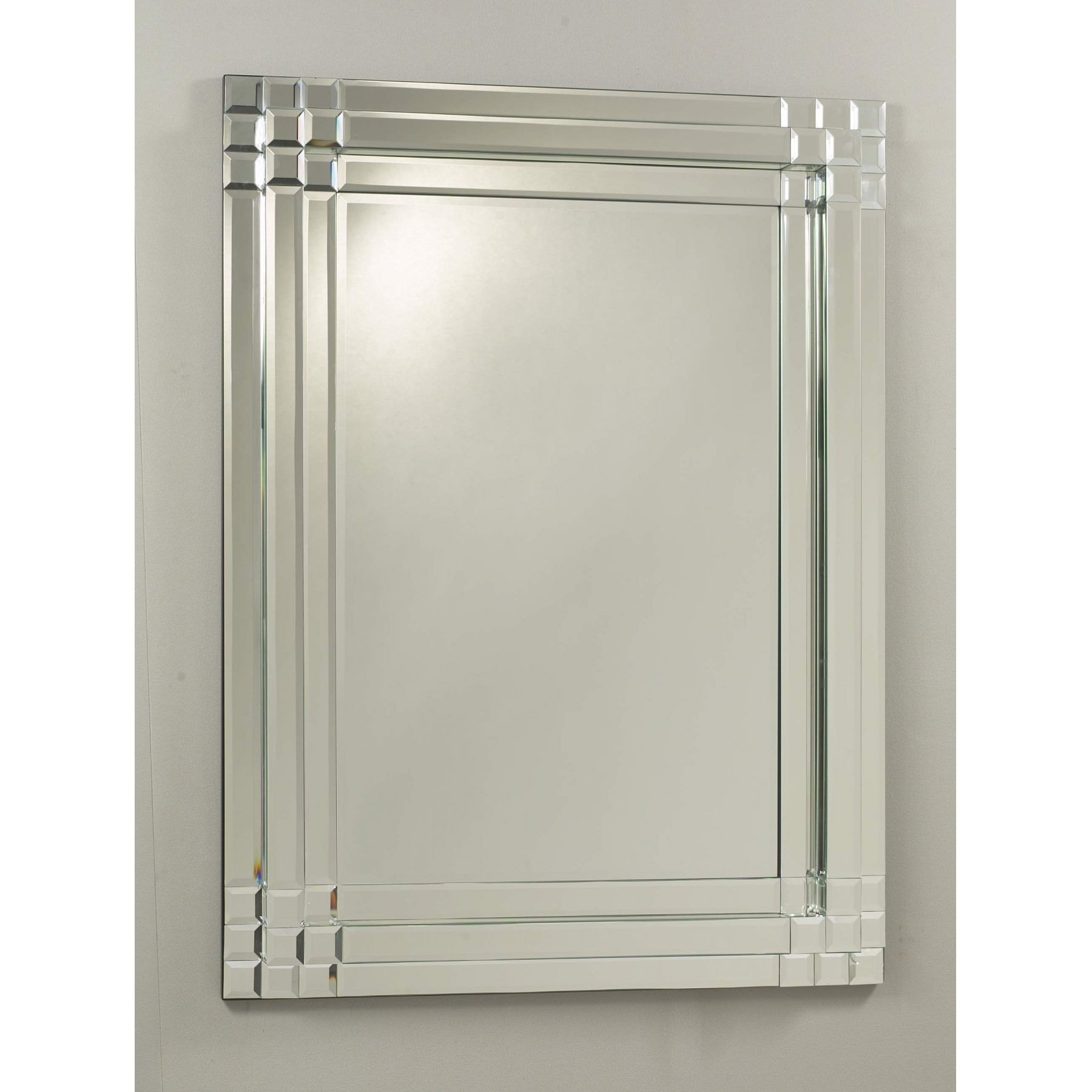 Silver box bevel mirror miscellaneous from homesdirect for Beveled mirror