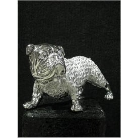 Silver Bulldog Ornament