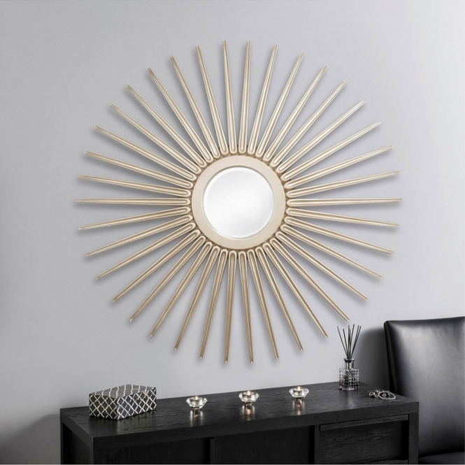Silver Burst Decorative Mirror