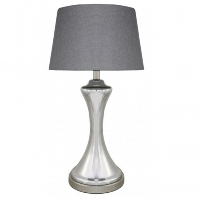 Silver Chrome Modern Table Lamp