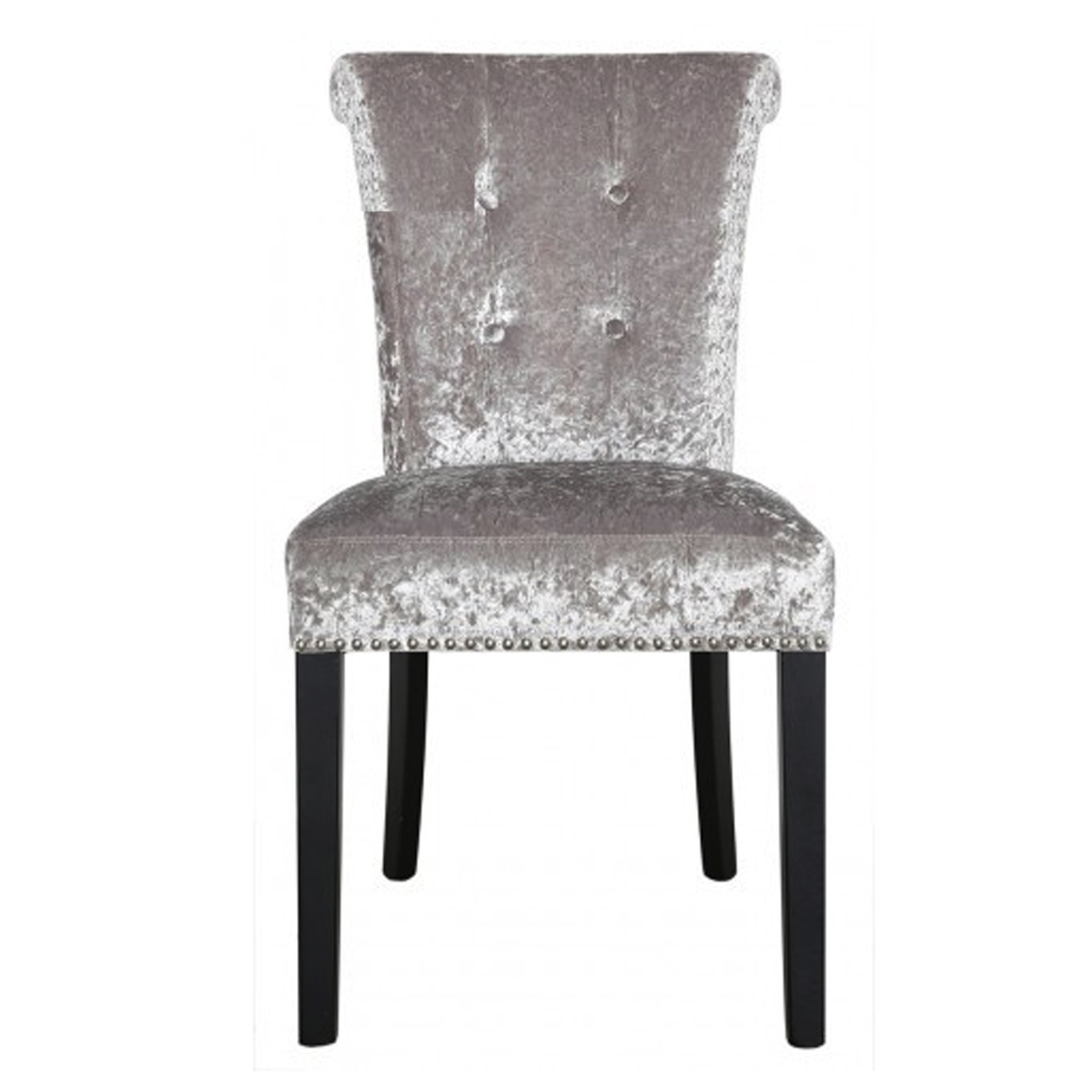 Silver Crushed Velvet Dining Chair Dining Chairs