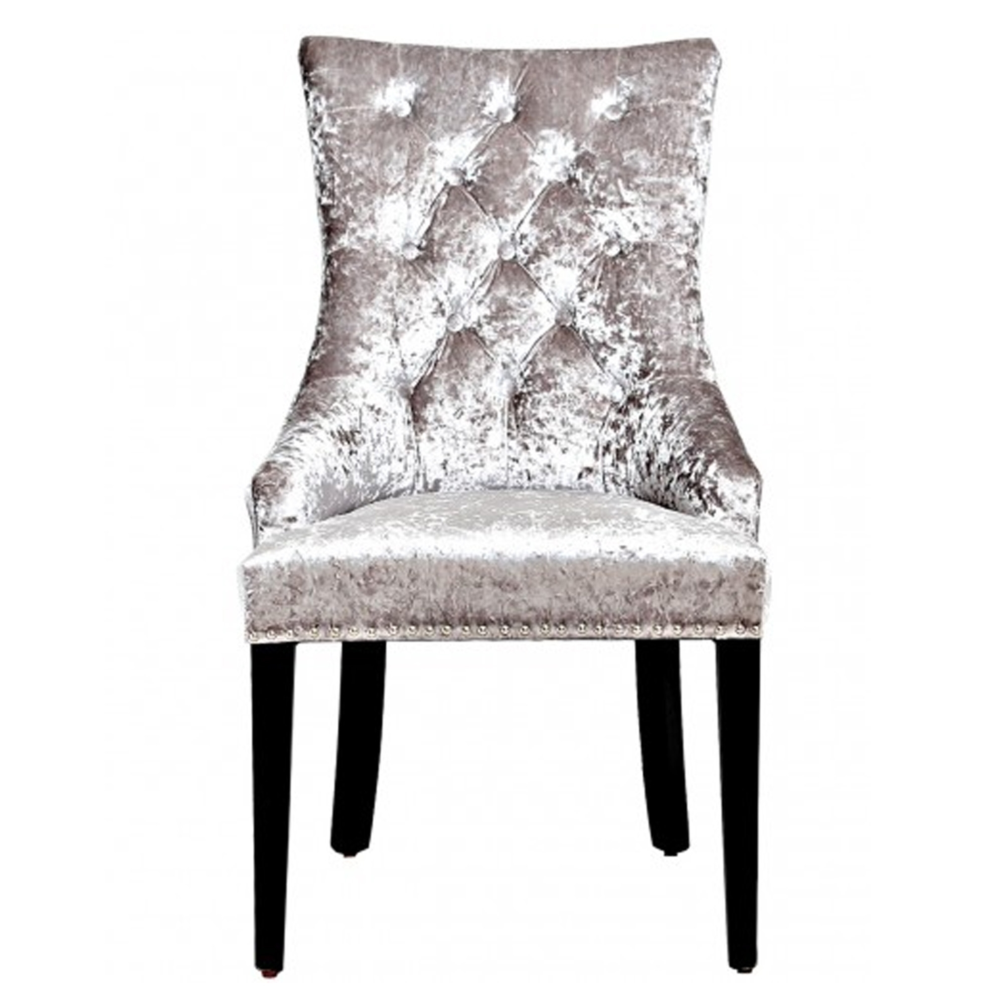 buy popular 53615 5c818 Silver Crushed Velvet Dining Chair