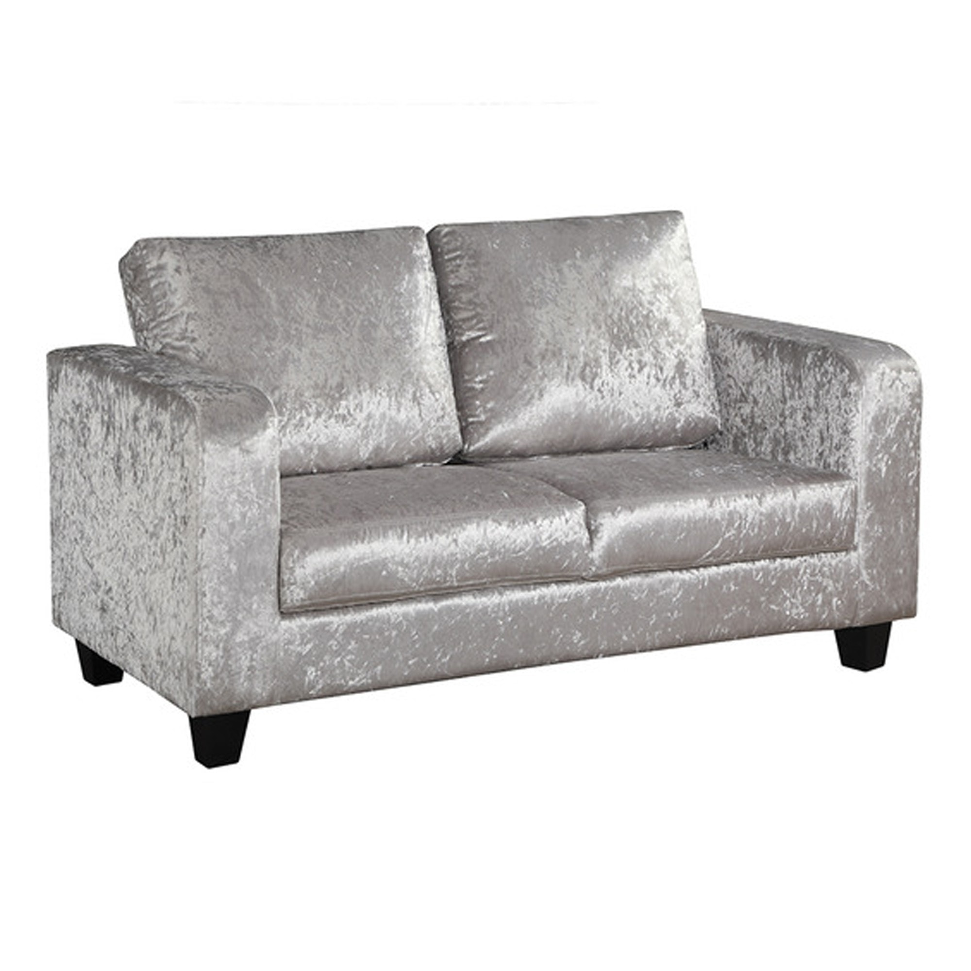 Picture of: Silver Crushed Velvet Sofa Crushed Velvet Sofa Velvet Sofa
