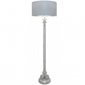 Silver Crystal Antique French Style Floor Lamp