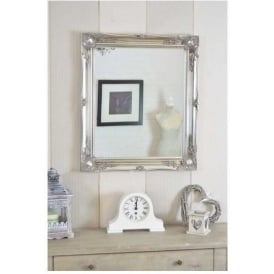 Silver Decorative Antique French Style Mirror