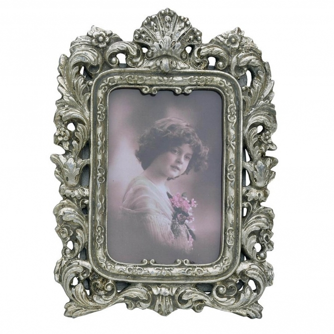Silver Decorative Antique French Style Photo Frame