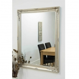 Silver Decorative Antique French Style Wall Mirror