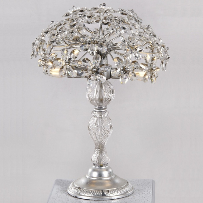 Silver Flower Table Lamp