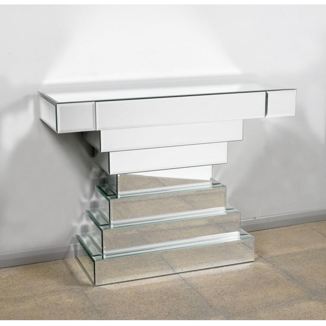 Silver Glass Console Table