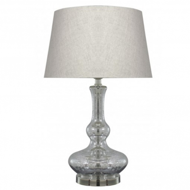 Silver Glass Modern Table Lamp