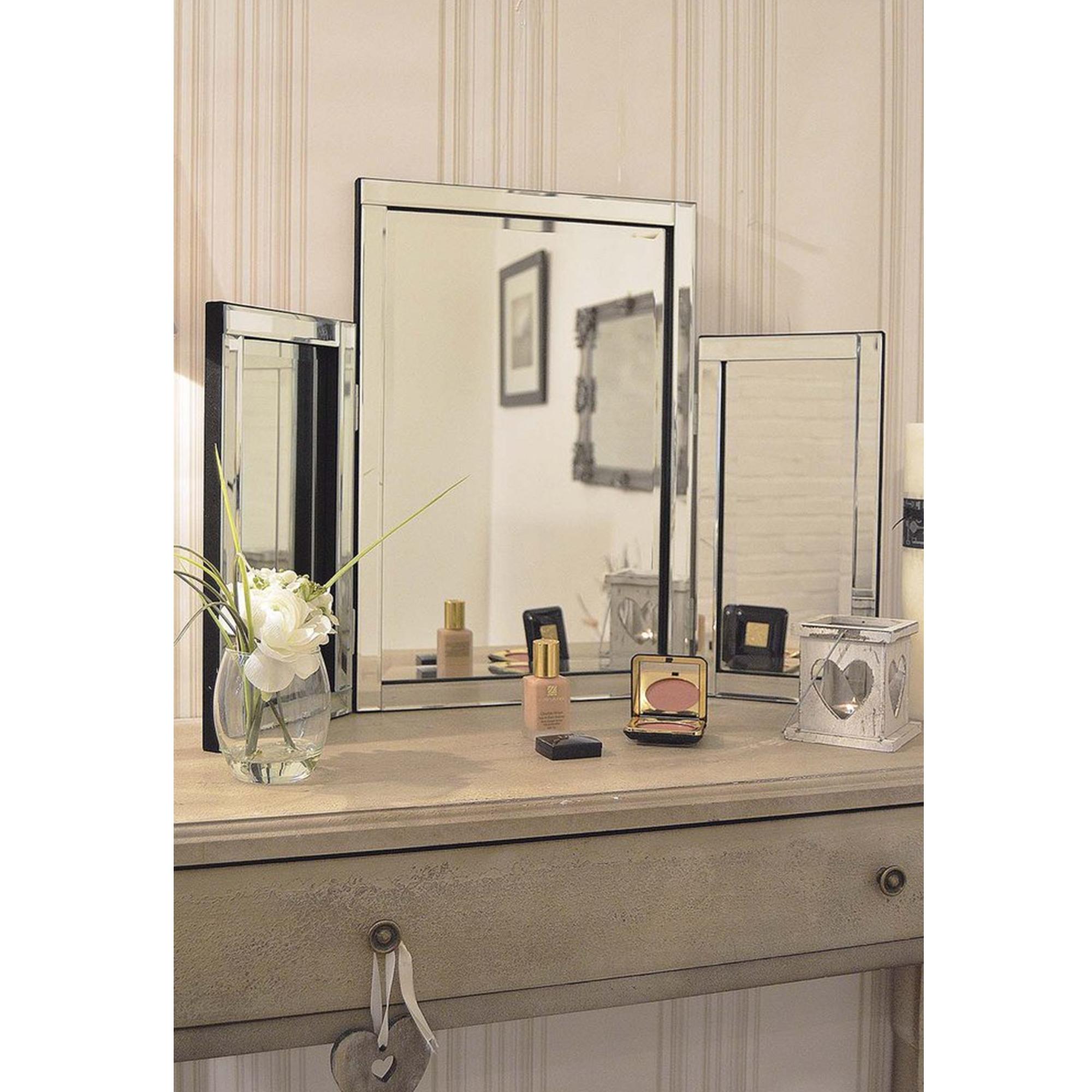 Silver Glass Venetian Table Mirror | Decorative Glass Mirrors