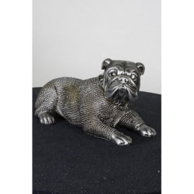 Silver & Gold Bulldog Ornament