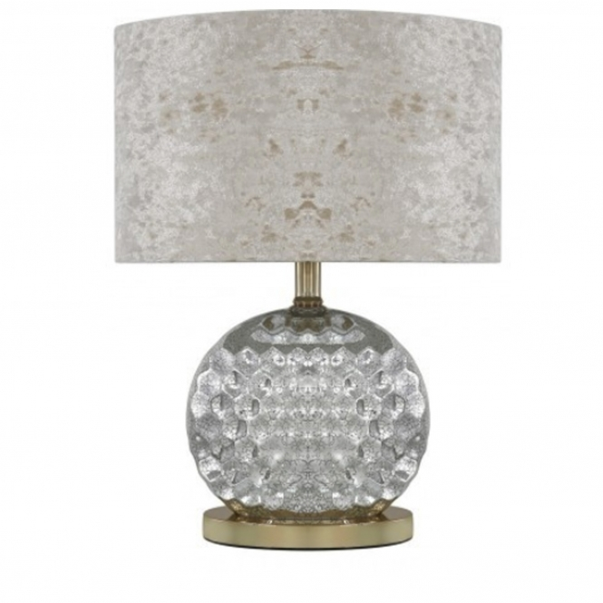 Silver & Gold Glass Modern Table Lamp