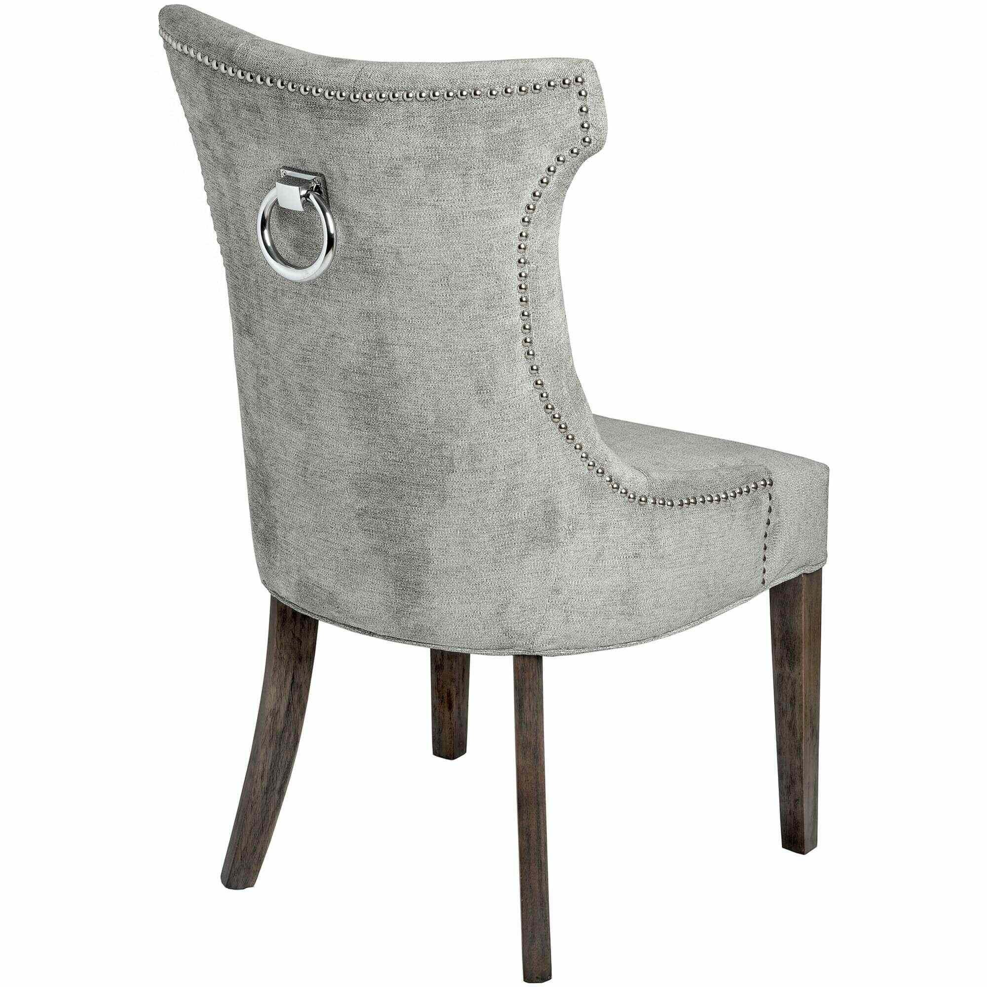 Silver High Wing Back Knocker Dining Chair
