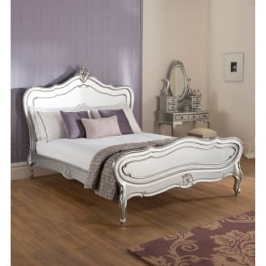 La Rochelle Antique French Silver Bed (Size: Kingsize)