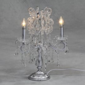 Silver Leaf Antique French Style Candelabra
