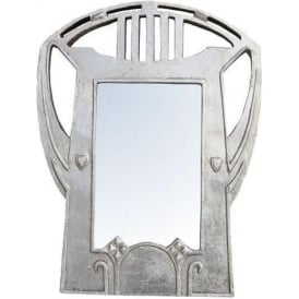 Silver Leaf Antique French Style Mirror