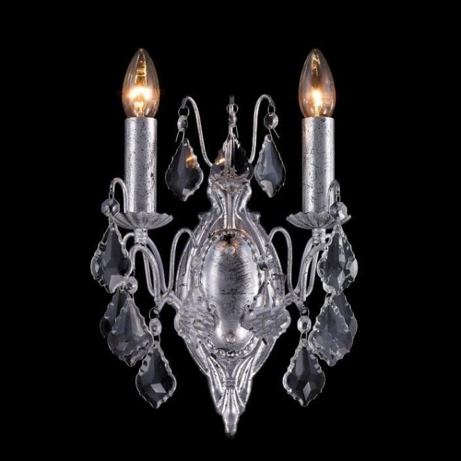 Silver Leaf Antique French Style Sconce