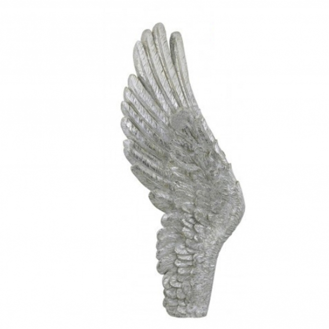 Silver Left Angel Wing Wall Decoration