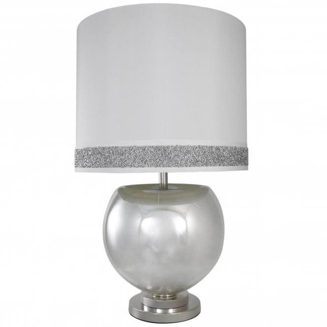 Silver Mercury Bowl Table Lamp