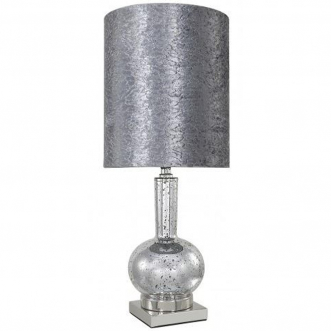 Silver Mercury Glass Phial Table Lamp