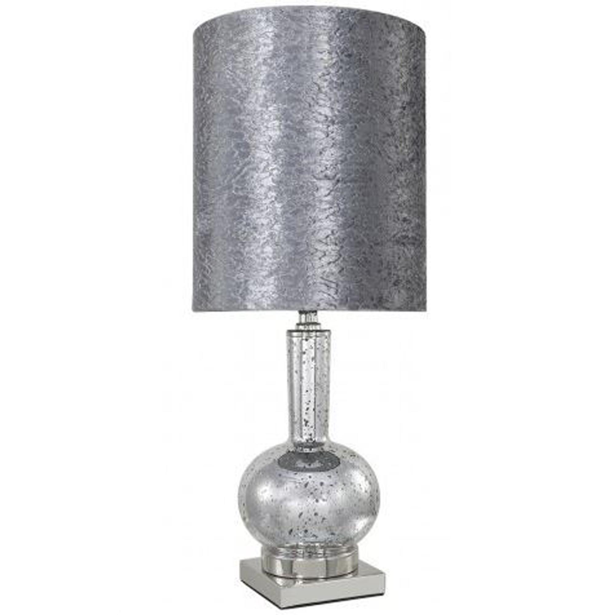 Style Silver Mercury Glass Table Lamp