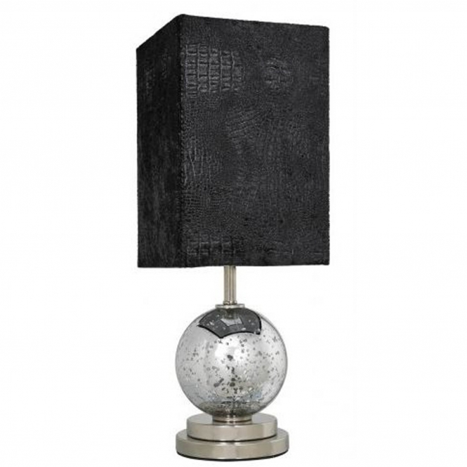Homes Direct 365 Silver Mercury Globe Table Lamp