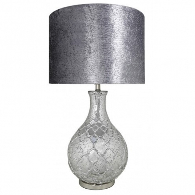 Silver Mercury Modern Table Lamp