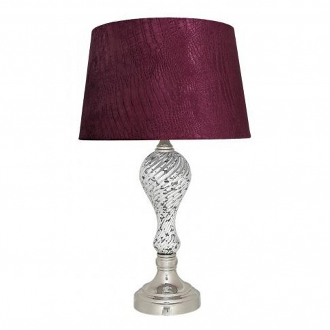 Silver Mercury Ripple Small Table Lamp