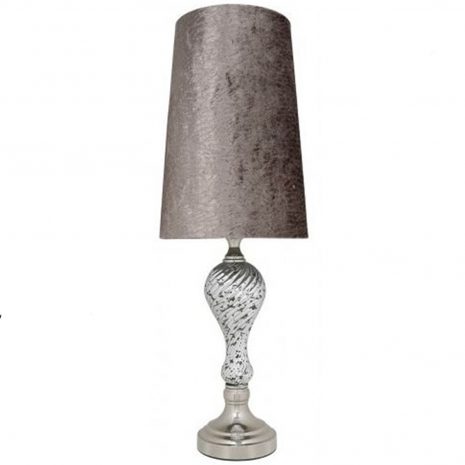 Silver Mercury Ripple Thin Table Lamp