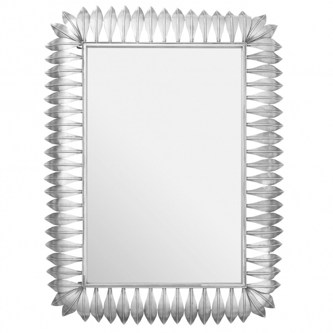 Silver Merlin Leaf Wall Mirror