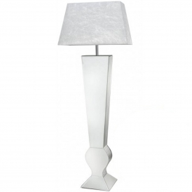 Silver Mirrored Floor Lamp