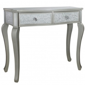 Silver Mosaic Antique French Style Console Table