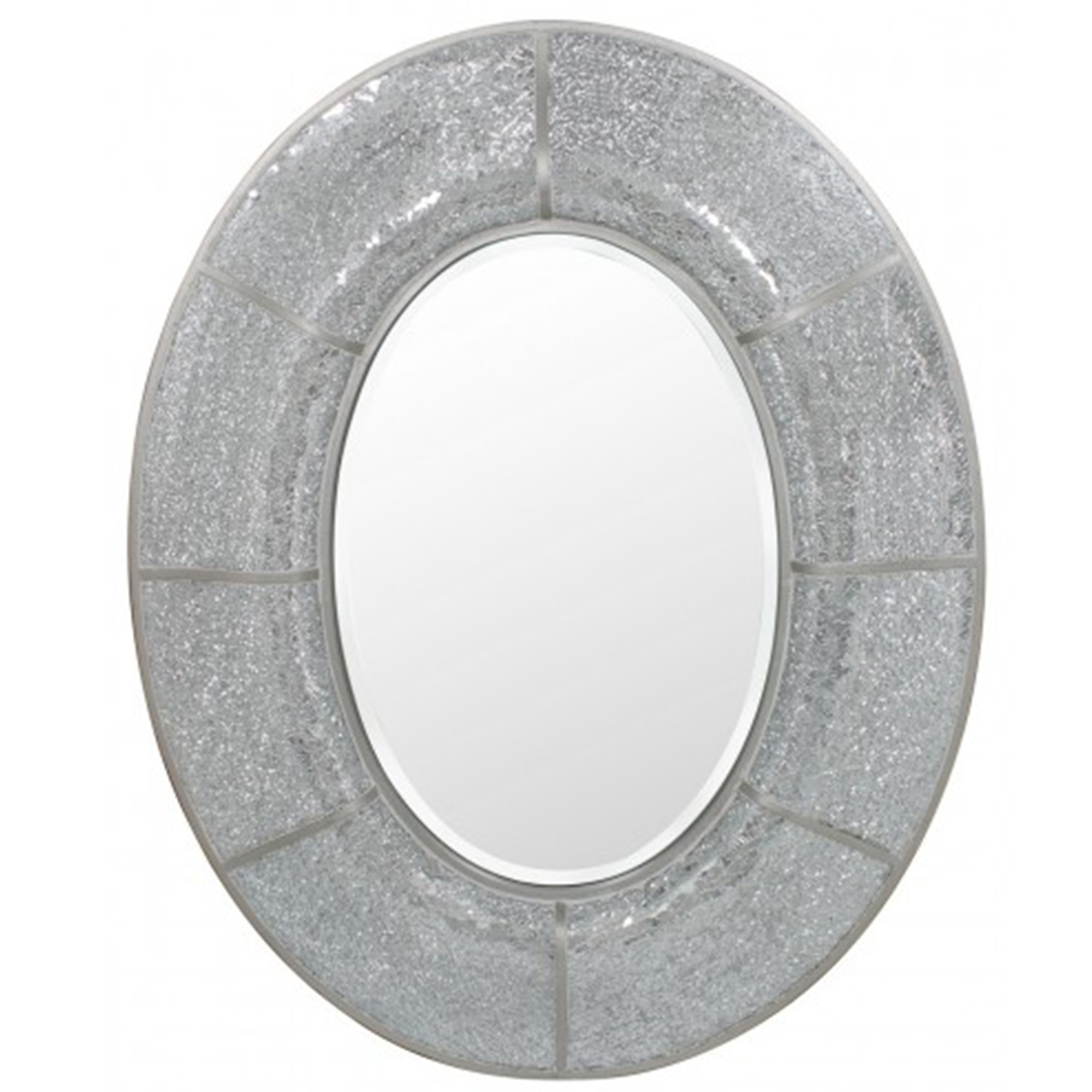 Silver Mosaic Oval Wall Mirror French Mirrors From Homesdirect 365 Uk
