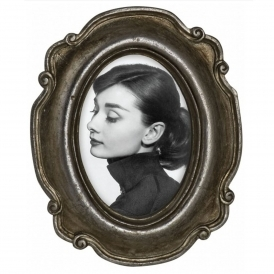 Silver Oval Photo Frame