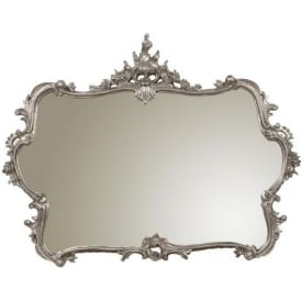 Silver Overmantel antique French Style Mirror