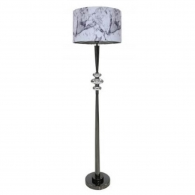 Silver Pearl Pebble Floor Lamp