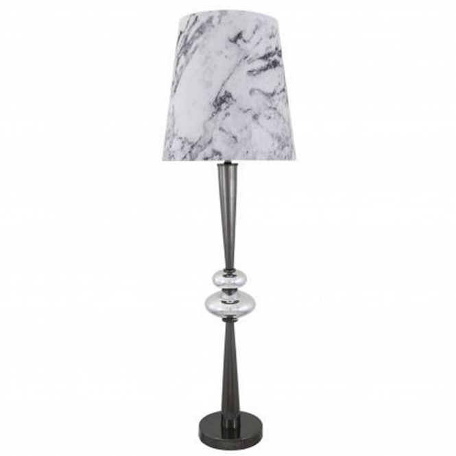 Silver Pearl Pebble Table Lamp
